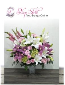bunga meja anggrek mix lilly