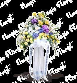 karangan bunga standing