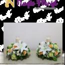 bunga meja duka cita lilin