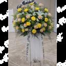 karangan bunga dukacita standing
