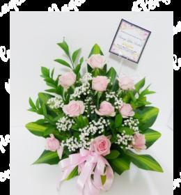 bunga meja ucapan ulang tahun