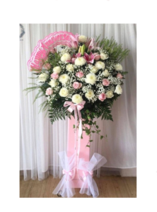 standing flower happy anniversary