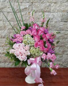 rangkaian bunga meja anniversary