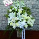 rangkaian bunga meja mamwar mix lilly