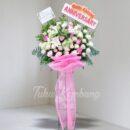 rangkaian bunga standing
