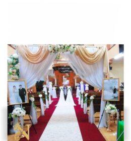 Dekorasi Pernikahan di Gereja Sederhana