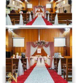 dekorasi pelaminan gereja