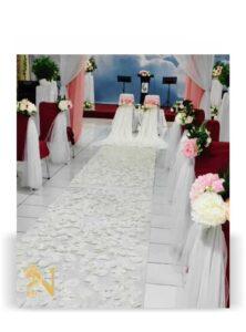 dekorasi pernikahan gereja