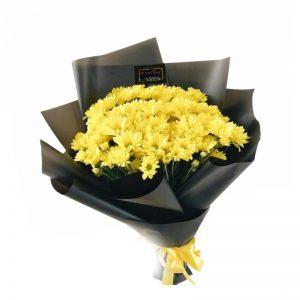 buket bunga krisan kuning