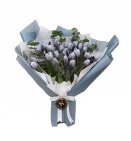 bunga tulip buket 20 tangkai