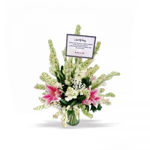 karangan bunga sedap malam mix lily