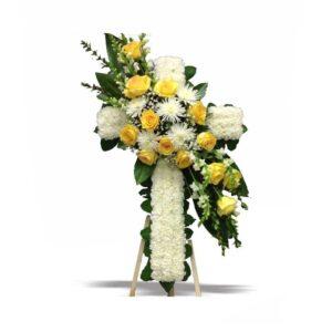 krans bunga salib