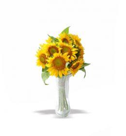 rangkaian bunga matahari simpel